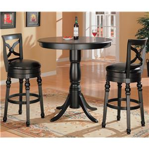 Coaster Lathrop 3 Piece Bar Table Set