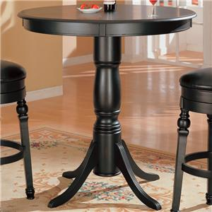Classic Round Bar Table with Pedstal Base