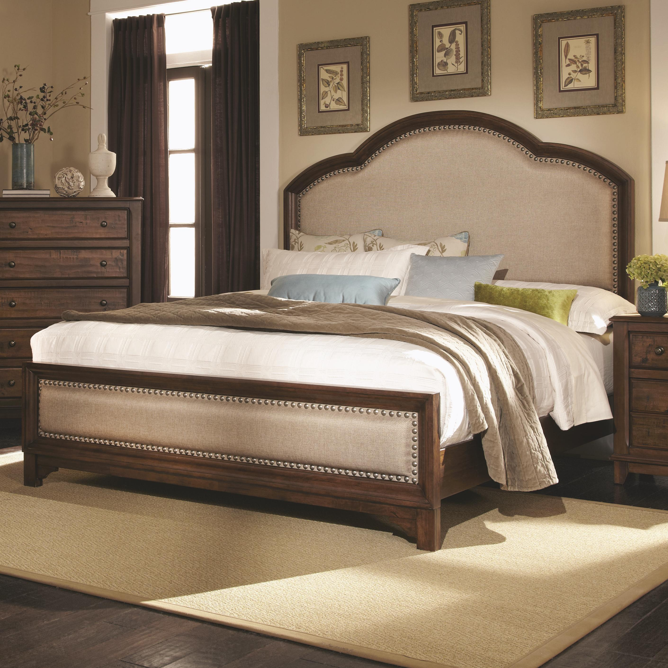 Laughton Queen Upholstered Bed by Coaster at Lapeer Furniture & Mattress Center