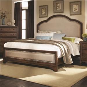Casual Queen Upholstered Bed