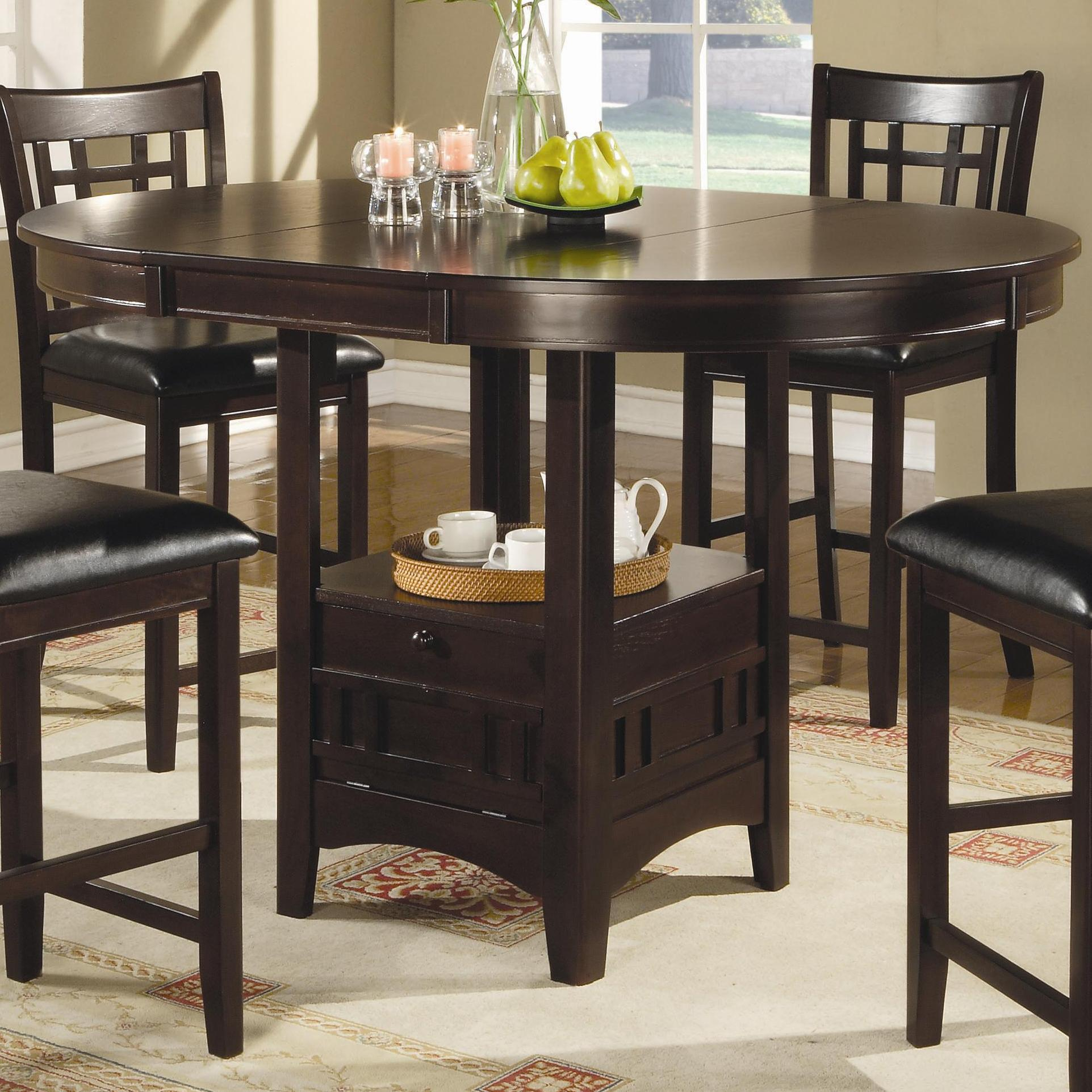 coaster lavon counter height table  value city furniture
