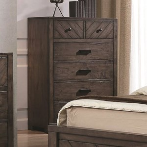 6 Drawer Rustic Chest w/ Felt-Lined Drawers