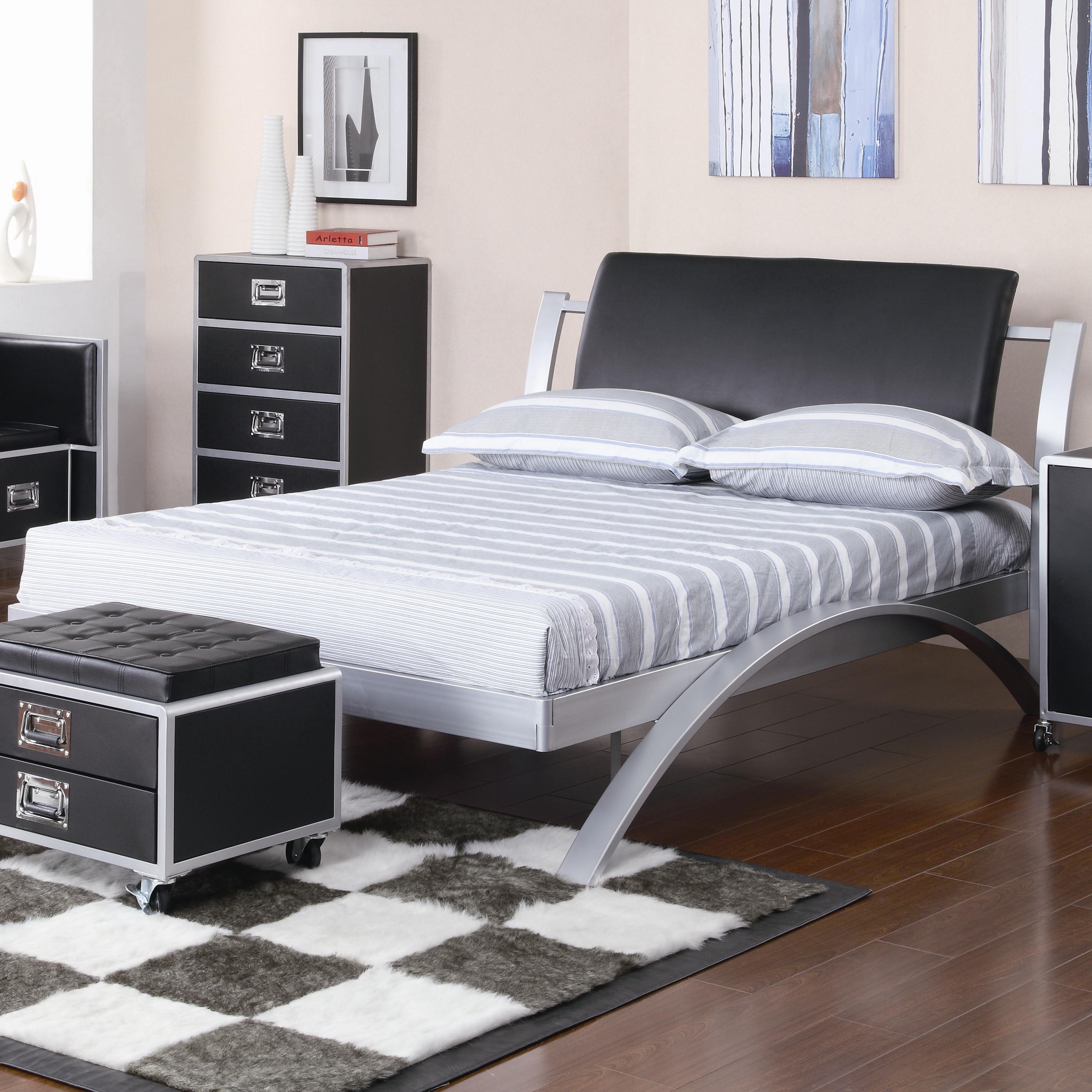 coaster furniture leclair 300200t twin metal platform bed