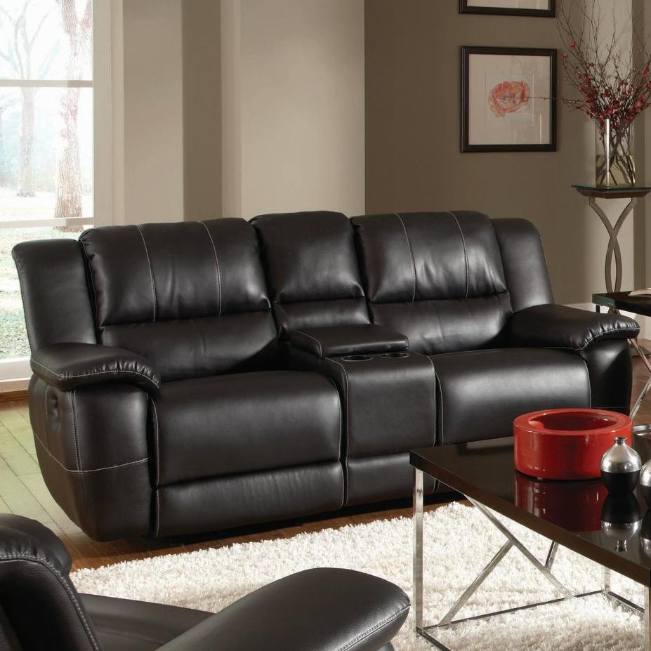 Lee Dbl Reclining Gliding Loveseat w/ Console by Coaster at Northeast Factory Direct