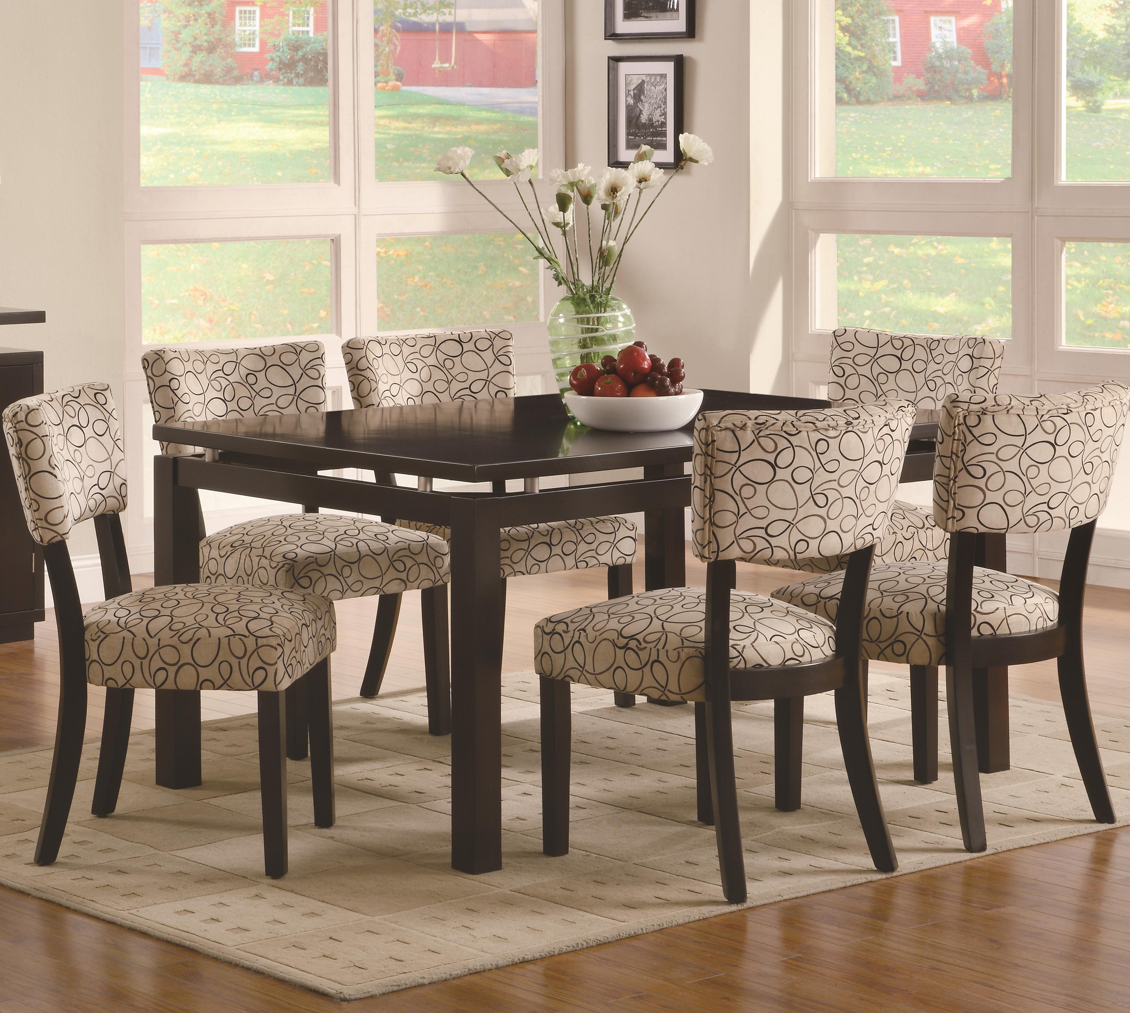 Libby 7 Piece Table & Chair Set by Coaster at Lapeer Furniture & Mattress Center