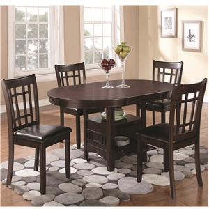 5 Piece Dining Set with Storage Table