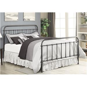 Transitional King Metal Bed