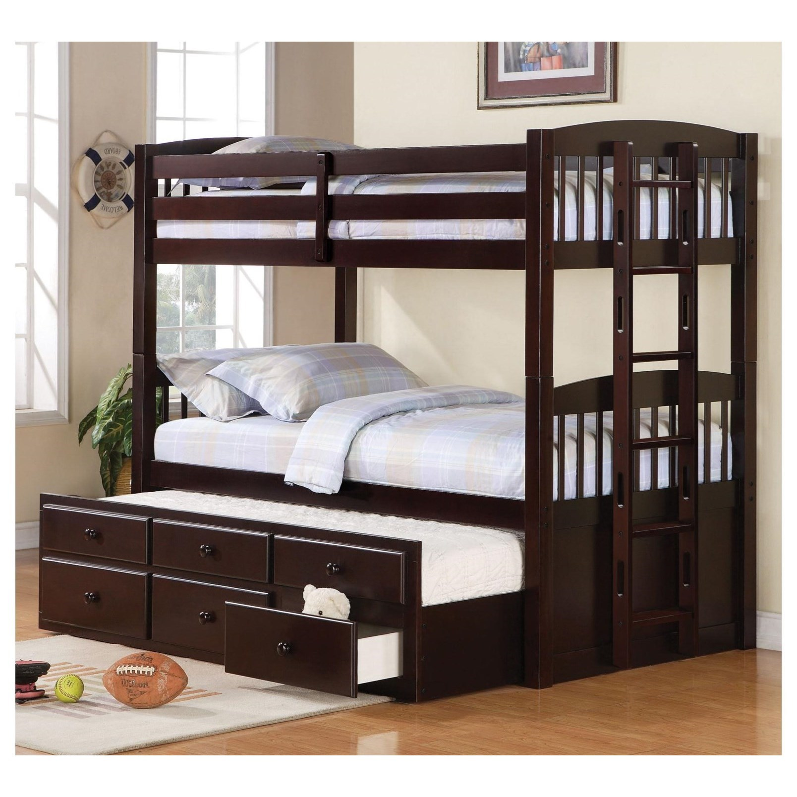 Logan Twin/Twin Bunk Bed by Coaster at Northeast Factory Direct