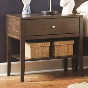 1 Drawer Nightstand with USB Charging Cables