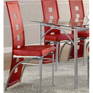 Coaster Los Feliz Dining Chair (Red)