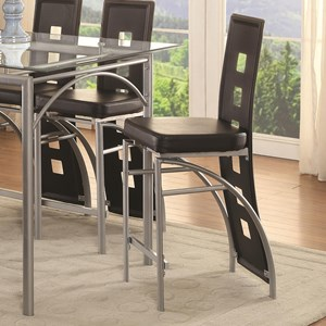 Black Contemporary Counter Height Stool