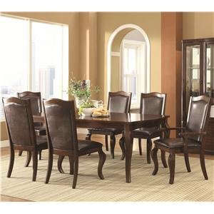 Transitional 7 Piece Dining Set