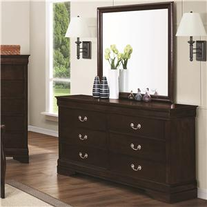 Drawer Dresser & Square Mirror