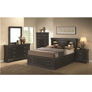 Coaster Louis Philippe King Storage Bed