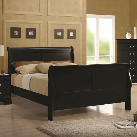 Louis Philippe Queen Sleigh Bed by Coaster at Northeast Factory Direct