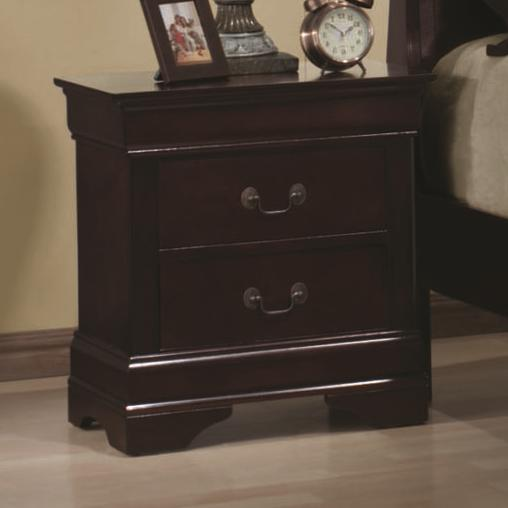 Louis Philippe Night Stand by Coaster at Lapeer Furniture & Mattress Center