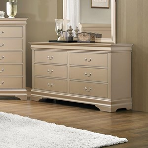 6 Drawer Transitional Dresser