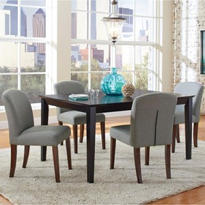 Transitional Table and Four Chair Set