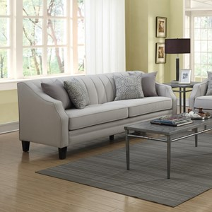 Sofa with Channeled Back and Track Arms