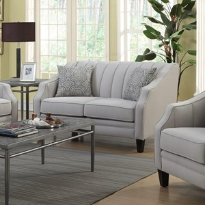 Loveseat with Channel Detailing