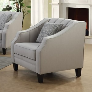 Upholstered Chair with Channeled Detailing