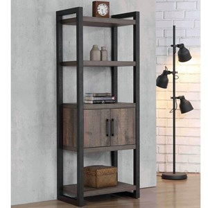 Contemporary Bookcase with Cabinet