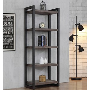 Contemporary 5 Shelf Bookcase