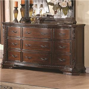 Drawer Dresser with Crowned Top