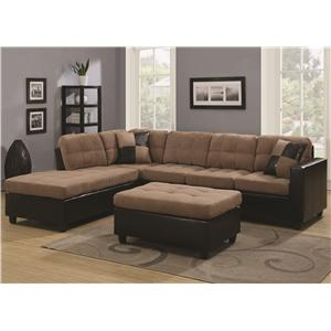 Reversible Sectional with Casual and Contemporary Style