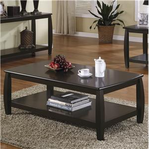 Coffee Table with 1 Shelf