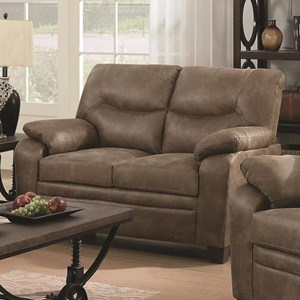 Casual Padded Loveseat