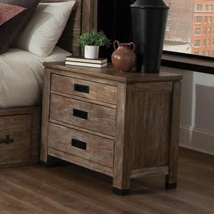Modern Rustic Nightstand with USB Ports