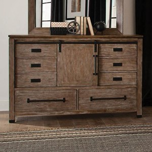 Modern Rustic Dresser with Sliding Barn Door