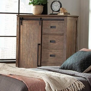 Modern Rustic Chest of Drawers with Sliding Barn Door