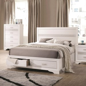 King Storage Bed with 2 Dovetail Drawers