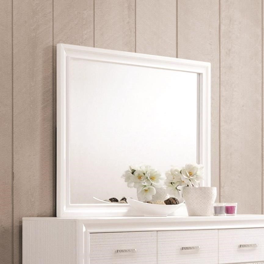 Miranda Mirror with Wood Frame by Coaster at Northeast Factory Direct