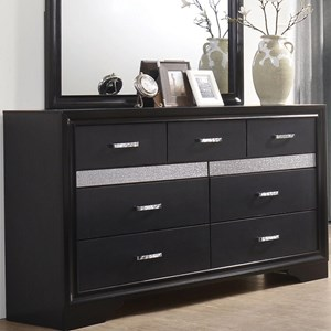 7 Drawer Dresser with Hidden Jewelry Tray