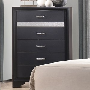 5 Drawer Chest with Hidden Jewelry Tray