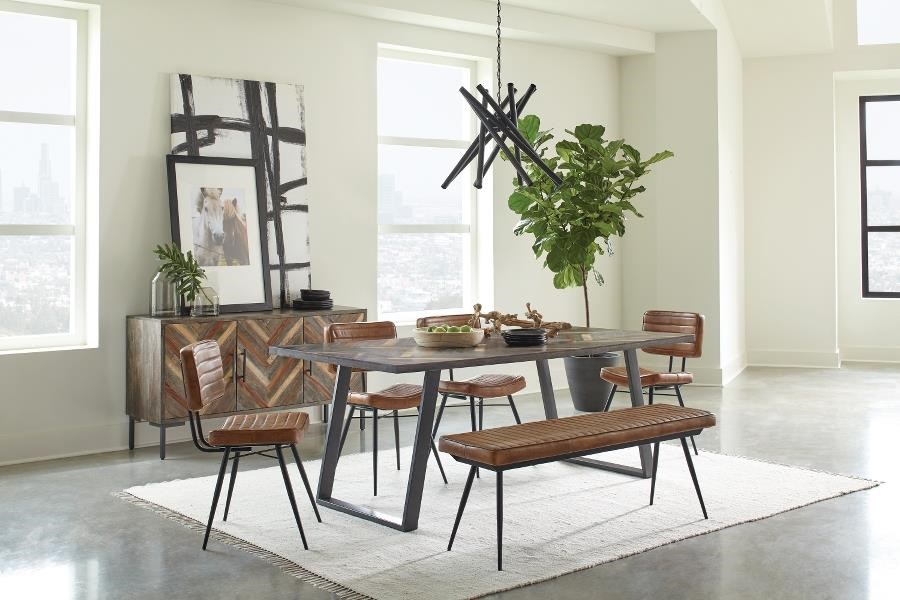 Misty 6-PIECE DINING AND CHAIR SET W/ BENCH by Coaster at Beck's Furniture