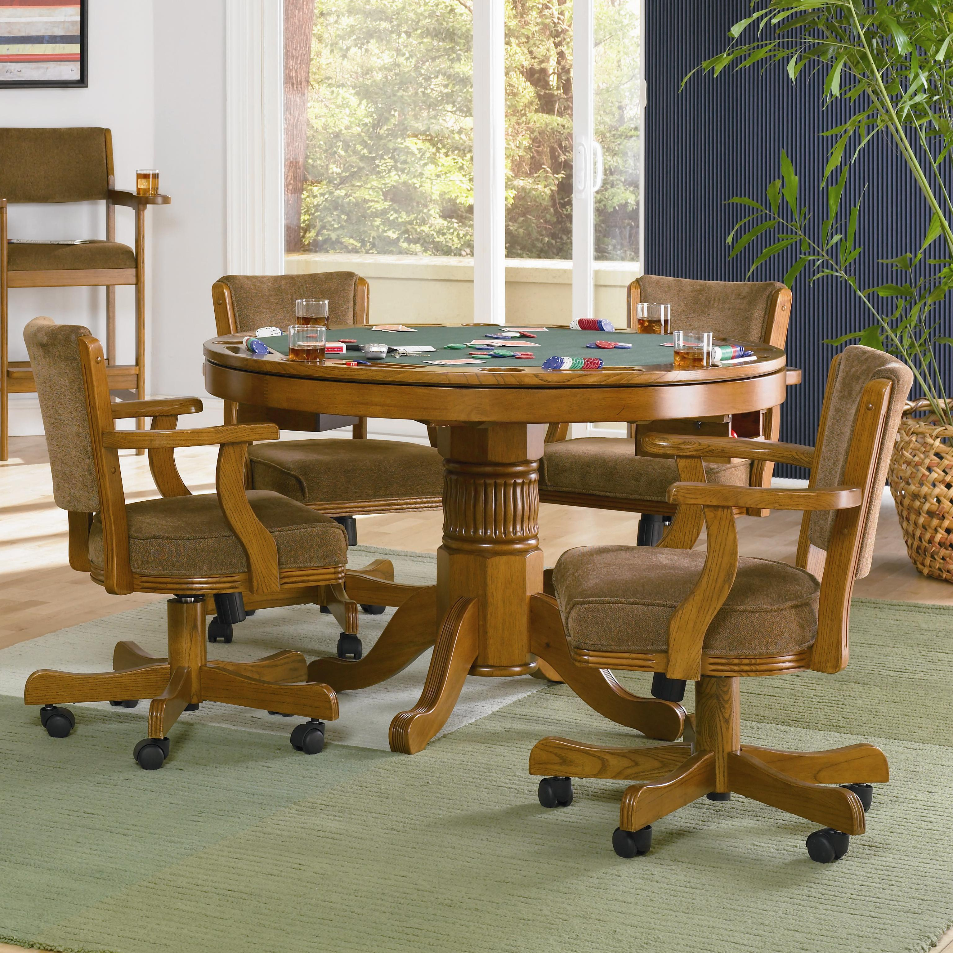 Mitchell 5 Piece Game Table Set by Coaster at Carolina Direct
