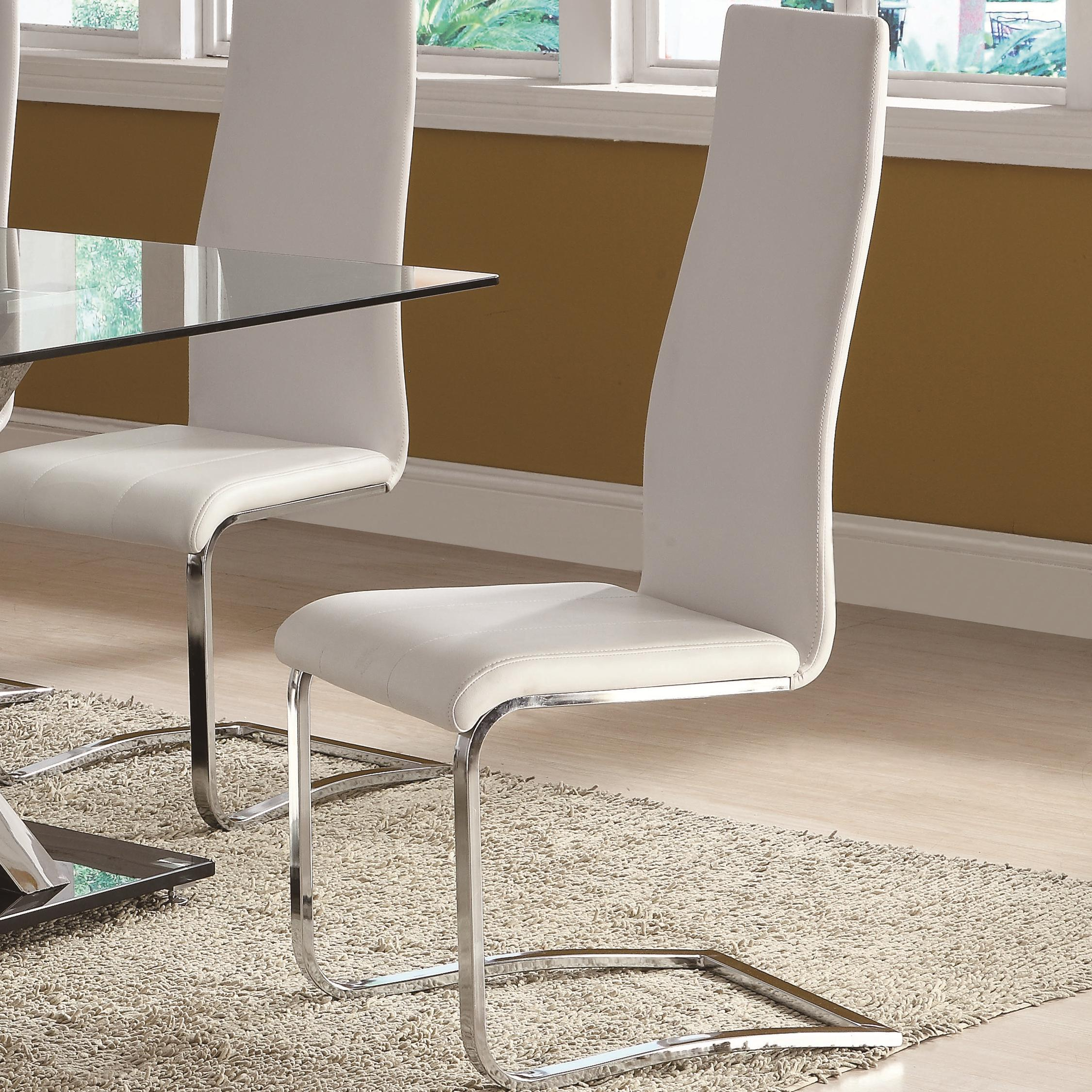 Modern Dining White Dining Chair by Coaster at Northeast Factory Direct