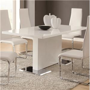 Coaster Modern Dining White Dining Table