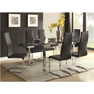 Contemporary Dining Room Set With Glass Table