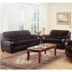 2 Piece Stationary Loveseat and Sofa Group