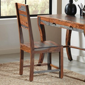Grey Sheesham Desk Chair