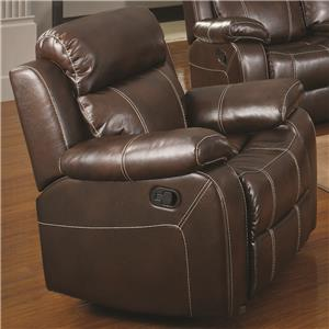 Glider Recliner w/ Pillow Arms