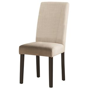 Parsons White Fabric Side Chair