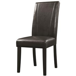Parsons Black Leatherette Side Chair