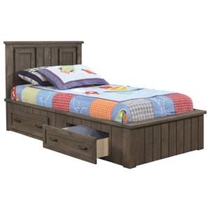 Transitional Full Storage Bed