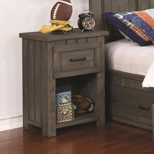 Transitional Nightstand with USB Charging Ports